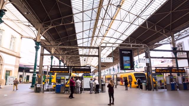 ws são bento train station - porto district portugal stock videos & royalty-free footage