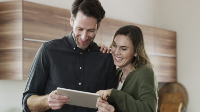 so many ways to stay connected to your spouse - using digital tablet stock videos & royalty-free footage