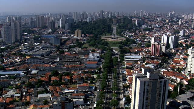são paulo  - aerial view - são paulo, são paulo, brazil - general view stock videos & royalty-free footage