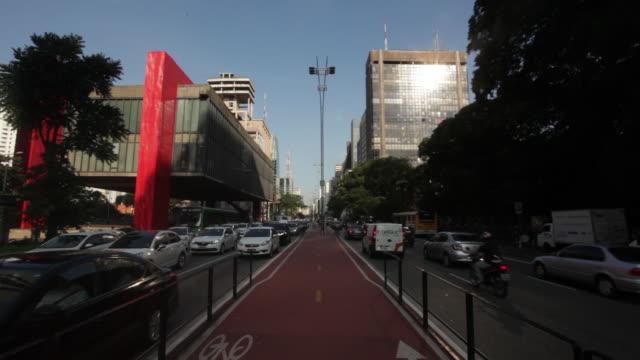 são paulo art museum, masp, paulista avenue - avenida paulista stock videos & royalty-free footage