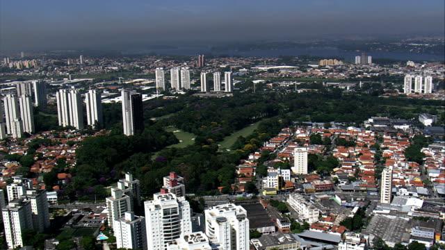 são paulo golf club  - aerial view - são paulo, brazil - religious saint stock videos and b-roll footage