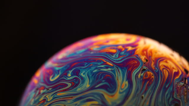 soap surface under extrem macro lens