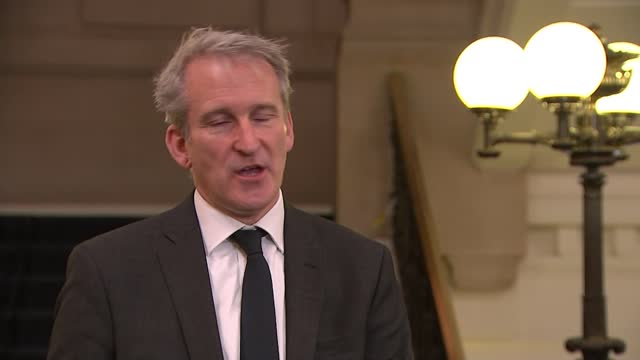 soaring energy prices: help sought from treasury to support industry; england: london: int damian hinds mp interview with reporter sot - pursuit concept stock videos & royalty-free footage