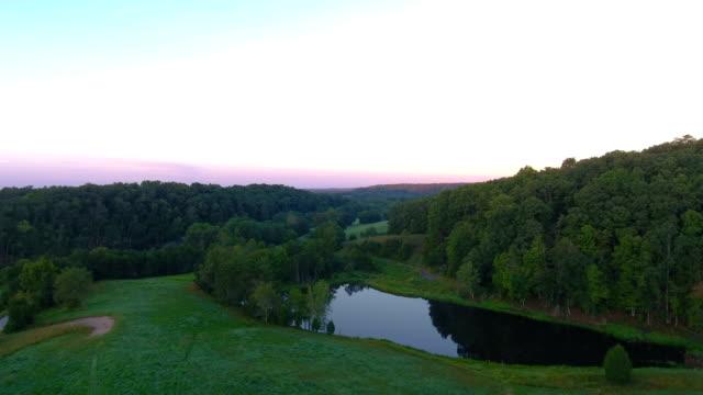 Planant au-dessus des Appalaches Meadow au Kentucky