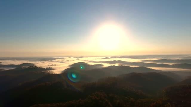 soaring over appalachian wilderness sunrise in kentucky - kentucky stock videos and b-roll footage
