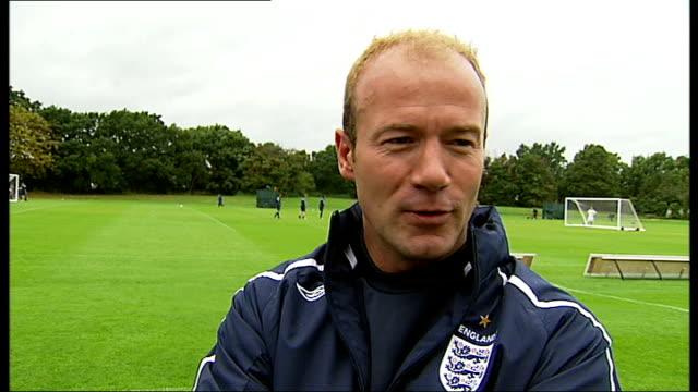 Players training Alan Shearer interview SOT