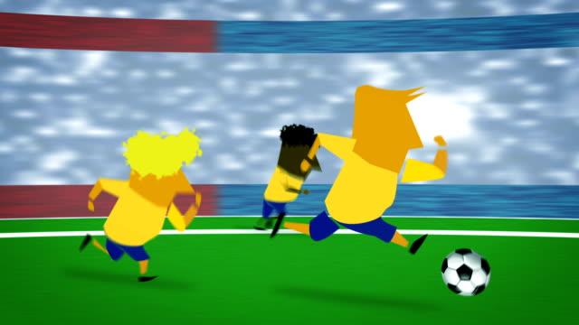 vídeos de stock, filmes e b-roll de animação de futebol - campo de futebol