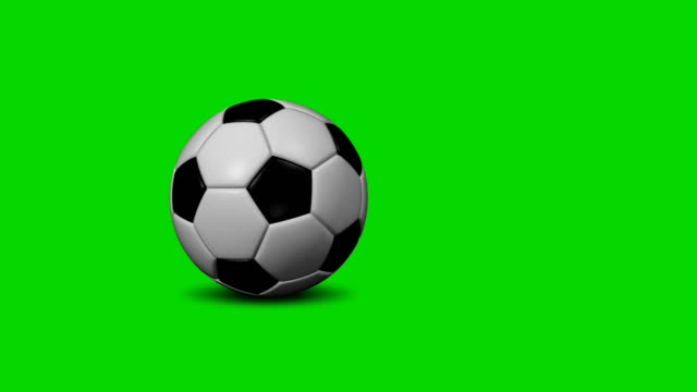 vídeos de stock e filmes b-roll de soccer ball (football) 4k transition (to change picture and make replays) - rolar