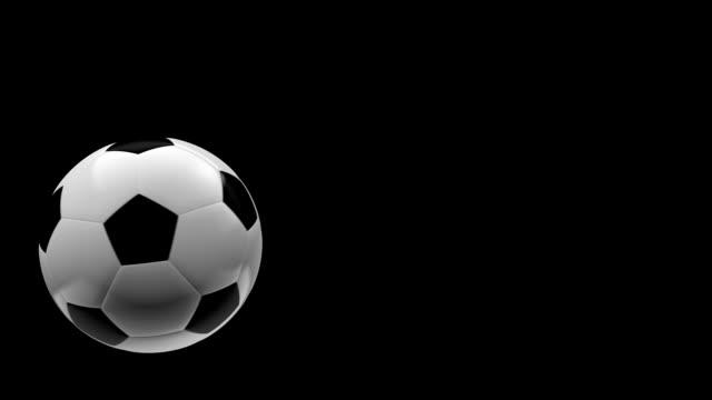 Soccer ball animated trajectory