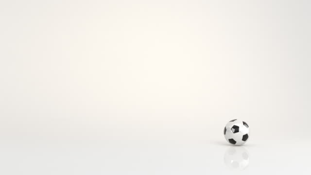 soccer ball animation - bouncing stock videos & royalty-free footage