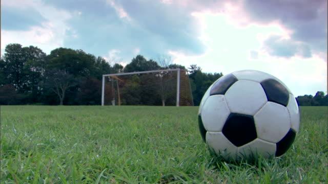 Soccer ball at field