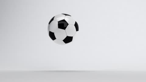 soccer ball bouncing till stop - bouncing stock videos & royalty-free footage