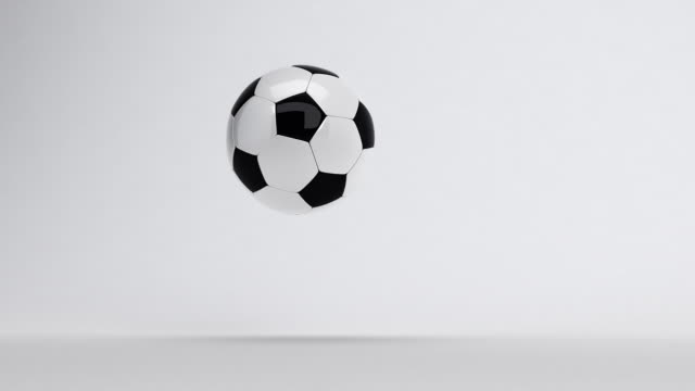 soccer ball bouncing till stop - ball stock videos and b-roll footage