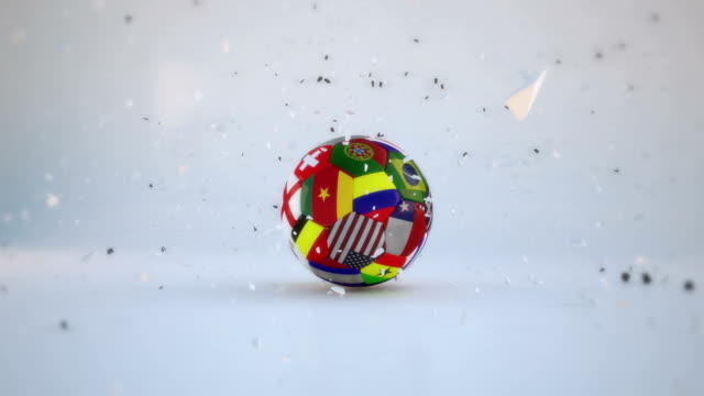 Soccer Ball Exploding and Turn