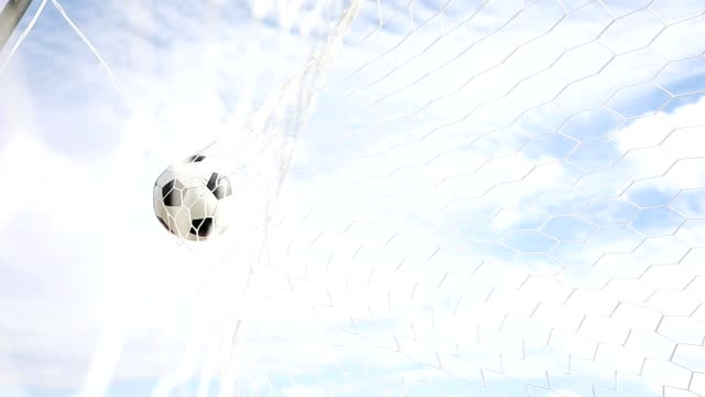 soccer ball hit the net,success goal concept - turf stock videos & royalty-free footage