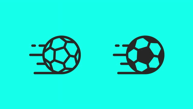 soccer ball icons - vector animate - sports period stock videos & royalty-free footage