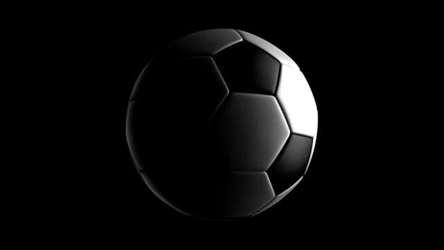 Soccer Ball isolated on black bg
