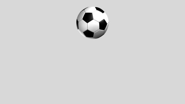 Soccer Ball jumping loop isolated with luma matte zg