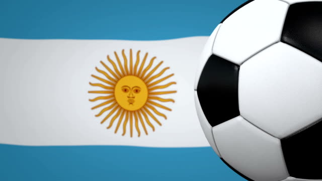 soccer ball loop with argentinian flag background - argentinian flag stock videos & royalty-free footage