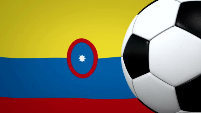 soccer ball loop with colombian flag background - colombian flag stock videos and b-roll footage