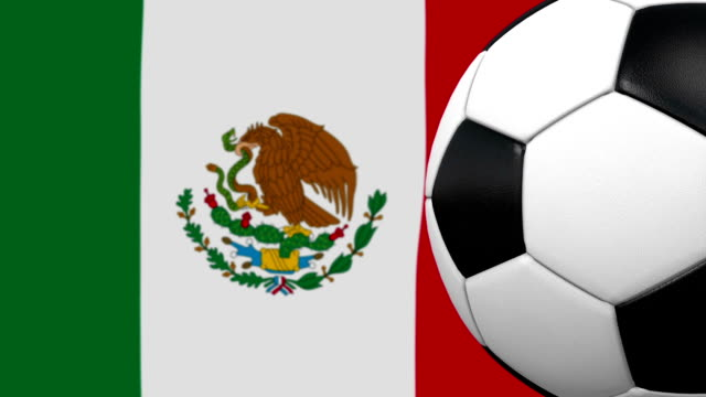 soccer ball loop with mexican flag background - world championship stock videos and b-roll footage