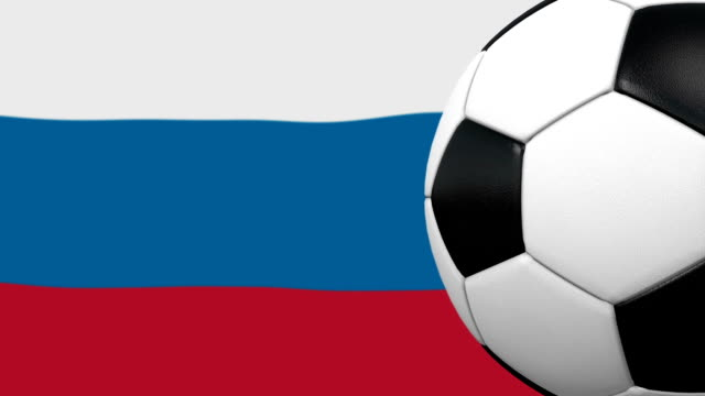 soccer ball loop with russian flag background - world championship stock videos and b-roll footage