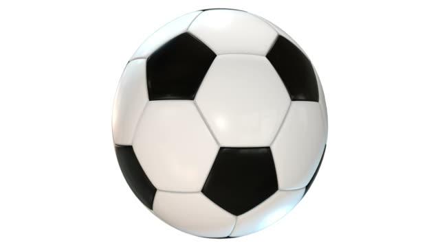 vídeos de stock e filmes b-roll de bola de futebol/loopable - bola