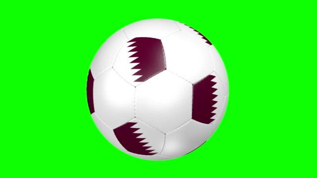 soccer ball qatar - qatar stock videos & royalty-free footage