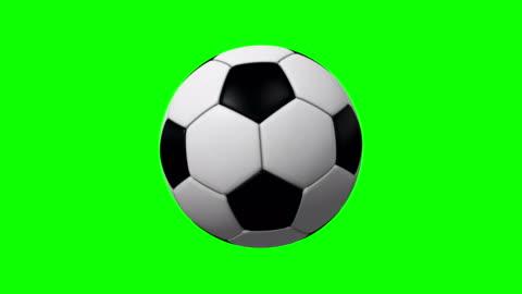 vidéos et rushes de 4k boucle tournante de ballon de soccer sur écran vert - ball