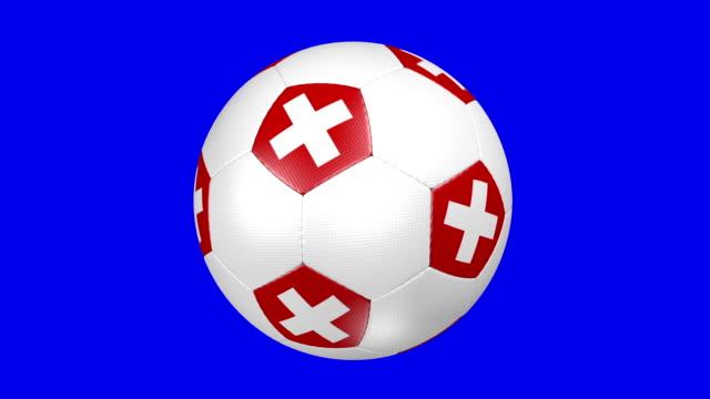 stockvideo's en b-roll-footage met soccer ball swiss - alle vlaggen van europa