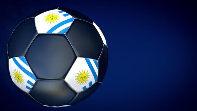 soccer ball – uruguay hd - international team soccer stock videos & royalty-free footage