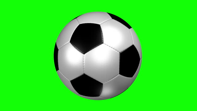 soccer ball - green background stock videos & royalty-free footage
