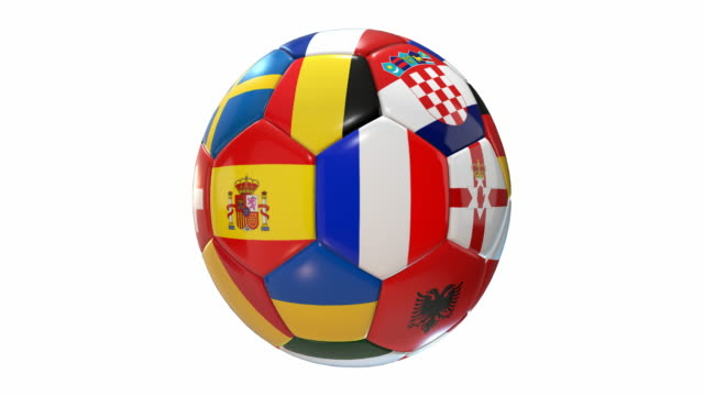 Soccer Ball with Flags | Loopable - 4K