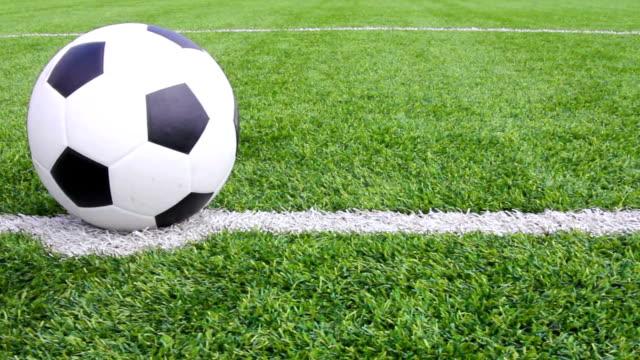 Soccer ball with grass
