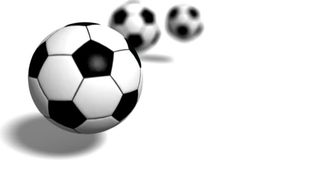 Soccer balls falling to ground