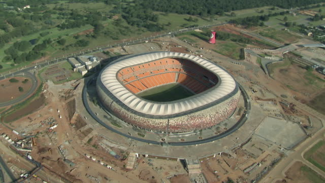 aerial soccer city / johannesburg, gauteng, south africa - soweto stock videos and b-roll footage