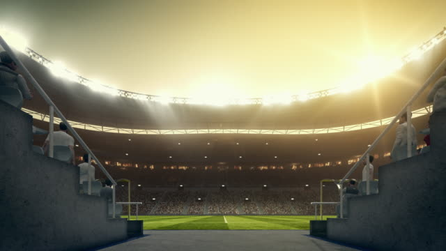 Fußball: Eingabe Stadion von Spieler-zone