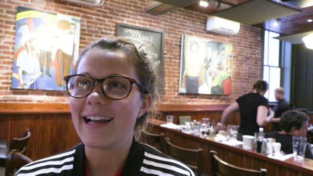 soccer fan jessi roman talks about the united states women's national soccer team winning its fourth world cup on sunday after a 20 victory game... - united states national team stock videos & royalty-free footage