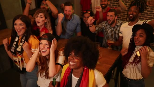 soccer fans cheering - world championship stock videos and b-roll footage