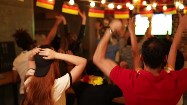 soccer fans cheering - fan enthusiast stock videos & royalty-free footage