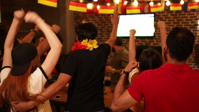 soccer fans cheering - world championship stock videos & royalty-free footage