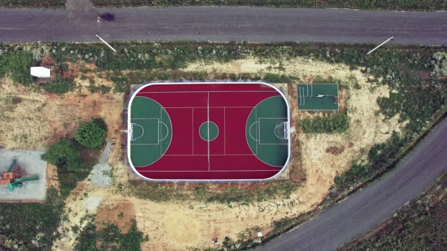 Soccer field - aerial view