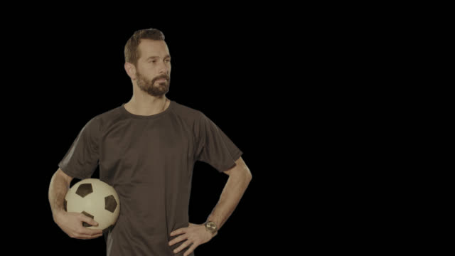 Soccer football coach. Isolated clip alpha channel available in 4k version