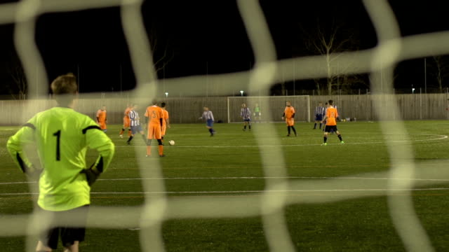 soccer / football match - kicking off - defender soccer player stock videos and b-roll footage