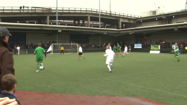 soccer game at the 2011 tribeca film festival - nyfest at new york ny. - tribeca festival stock videos & royalty-free footage