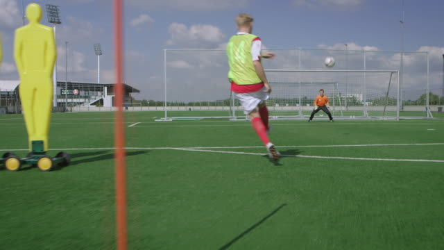soccer goal kick training - coach stock videos & royalty-free footage