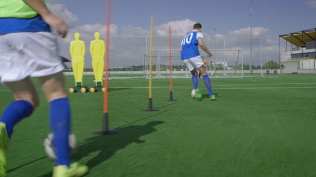Soccer goal kick training