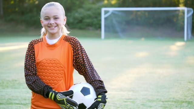 soccer goalie - soccer uniform stock videos & royalty-free footage