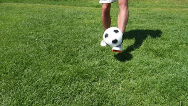 soccer keep ups - with copy space. - juggling stock videos & royalty-free footage