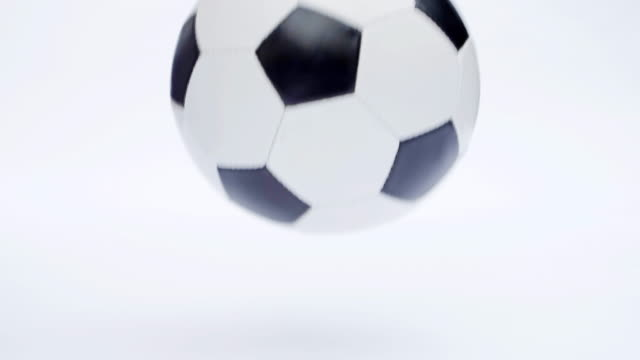 soccer or football ball bouncing. - ball stock videos and b-roll footage